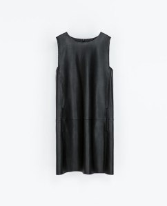 ZARA  Faux Leather Dress $79.90
